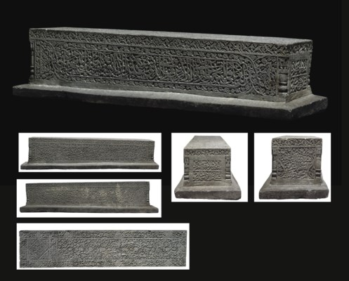 A TIMURID CARVED GREY SCHIST C