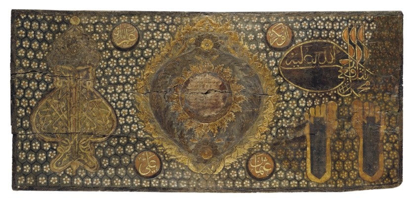 AN OTTOMAN PAINTED PANEL