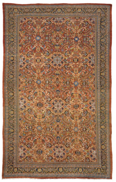 A LARGE SULTANABAD CARPET