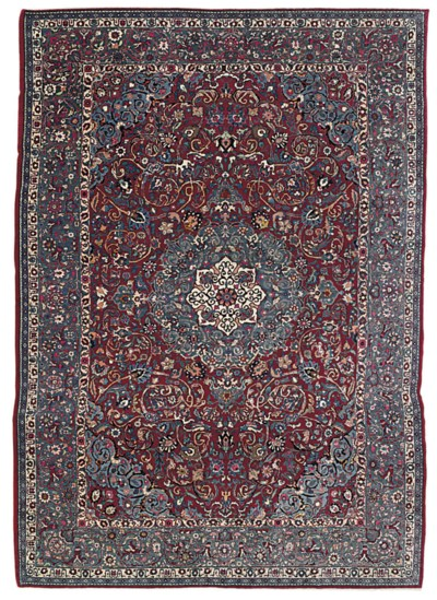 A PART-SILK TEHRAN CARPET