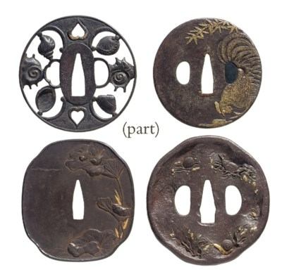 A group of twenty-four tsuba