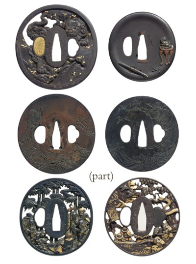 A group of eleven tsuba