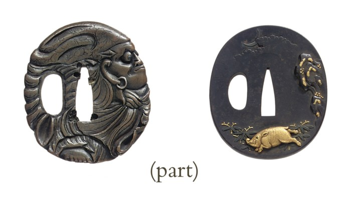 A group of thirty-one tsuba