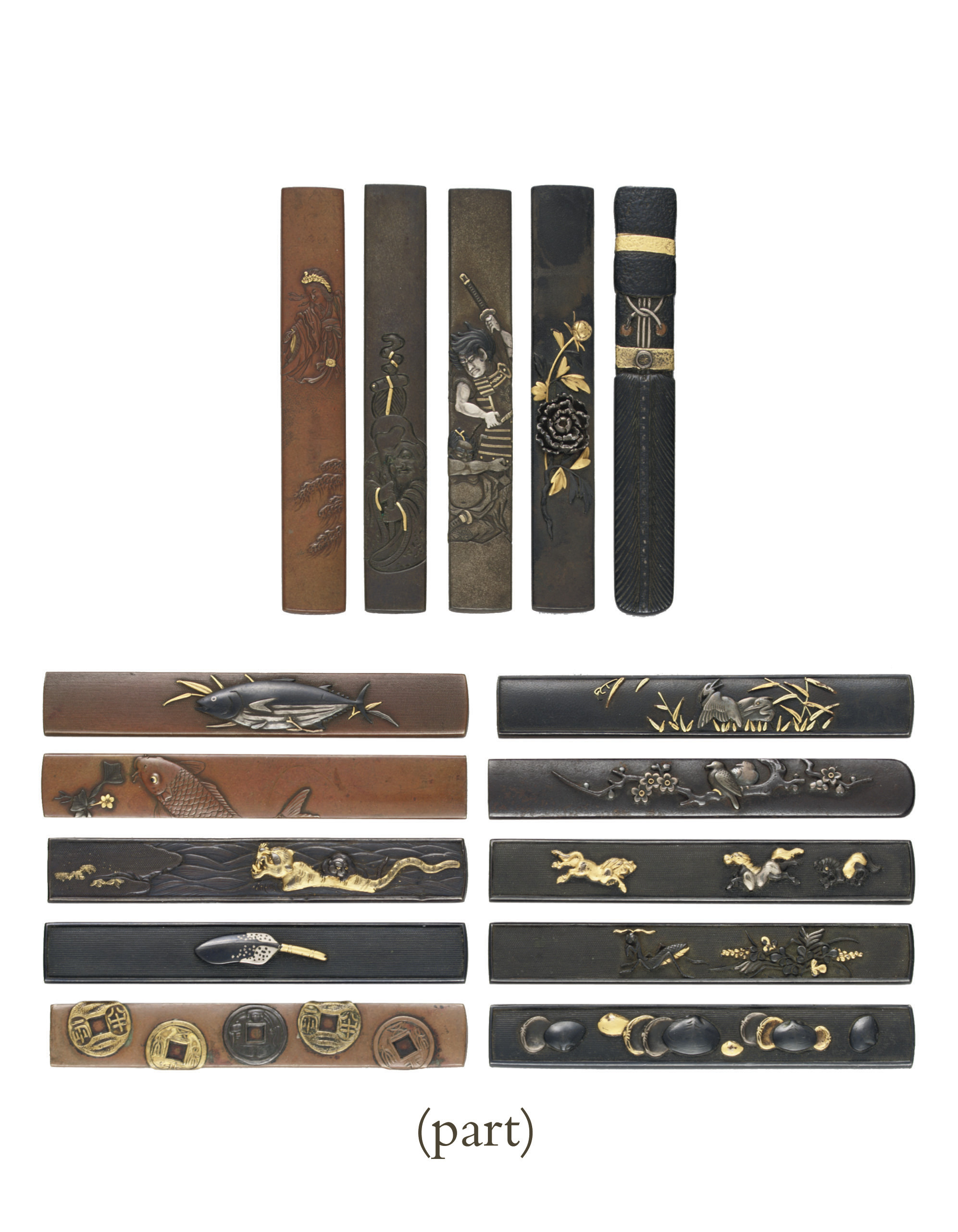A group of sixty-five kozuka