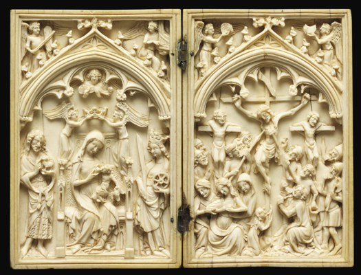 A RECTANGULAR CARVED IVORY DIP