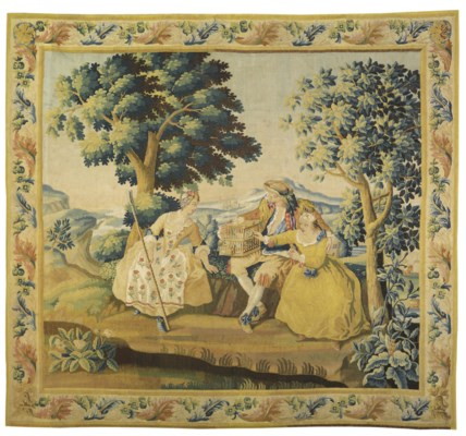 A GERMAN PASTORAL TAPESTRY