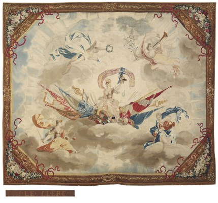 A FLEMISH ALLEGORICAL CANOPY T