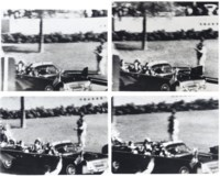 Stills from the Zapruder film of the Kennedy assassination, 22 November 1963