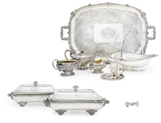 A GEORGE IV SILVER AND SILVER