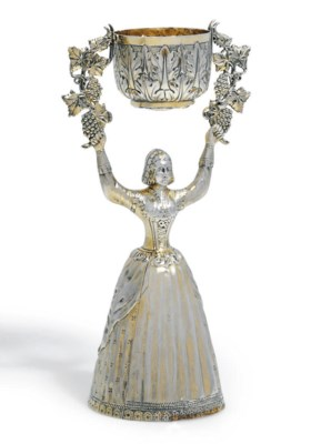 A GEORGE IV SILVER-GILT WAGER