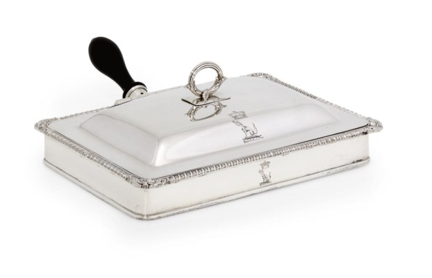 A GEORGE III SILVER TOASTED-CH