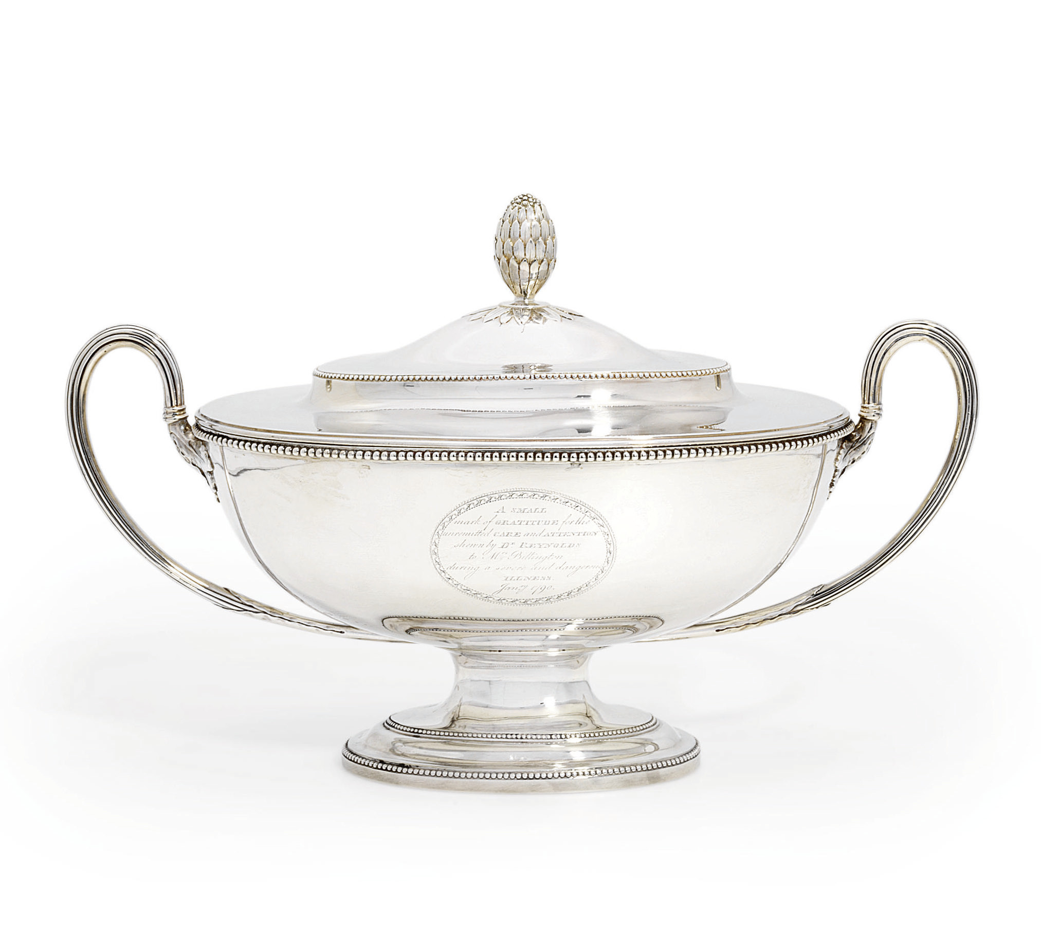 A GEORGE III SOUP TUREEN AND C