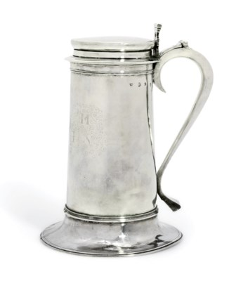 A COMMONWEALTH SILVER FLAGON