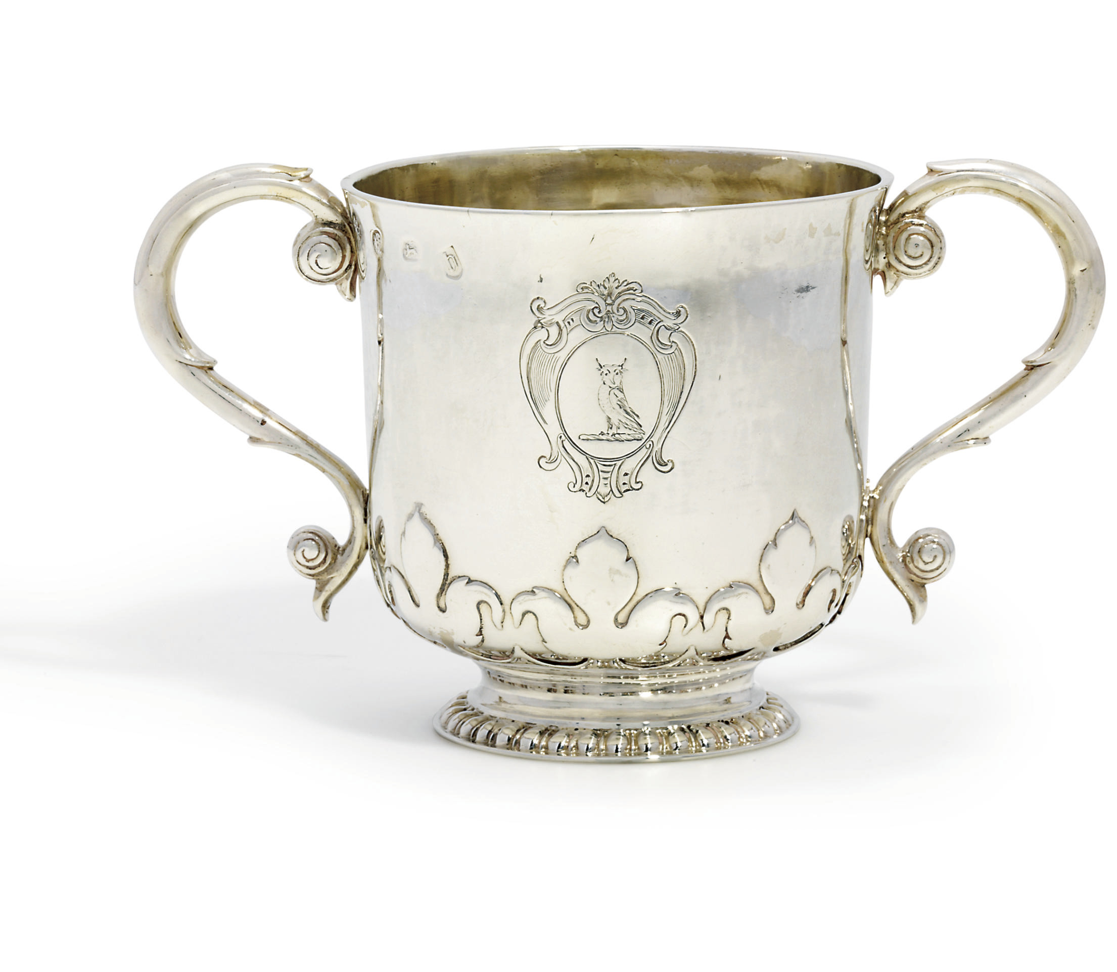 A JAMES II SILVER PORRINGER