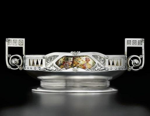 A silver-gilt and en plein ena