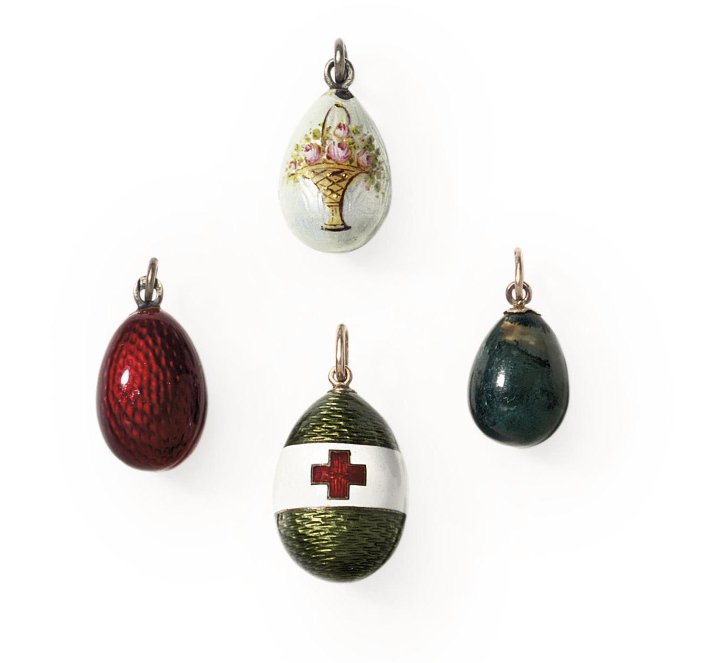 Four miniature pendant Easter