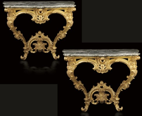 A MATCHED PAIR OF LOUIS XV GIL