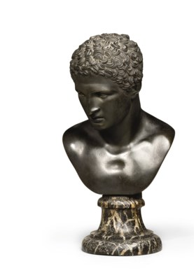 A BRONZE BUST OF MARCELLUS