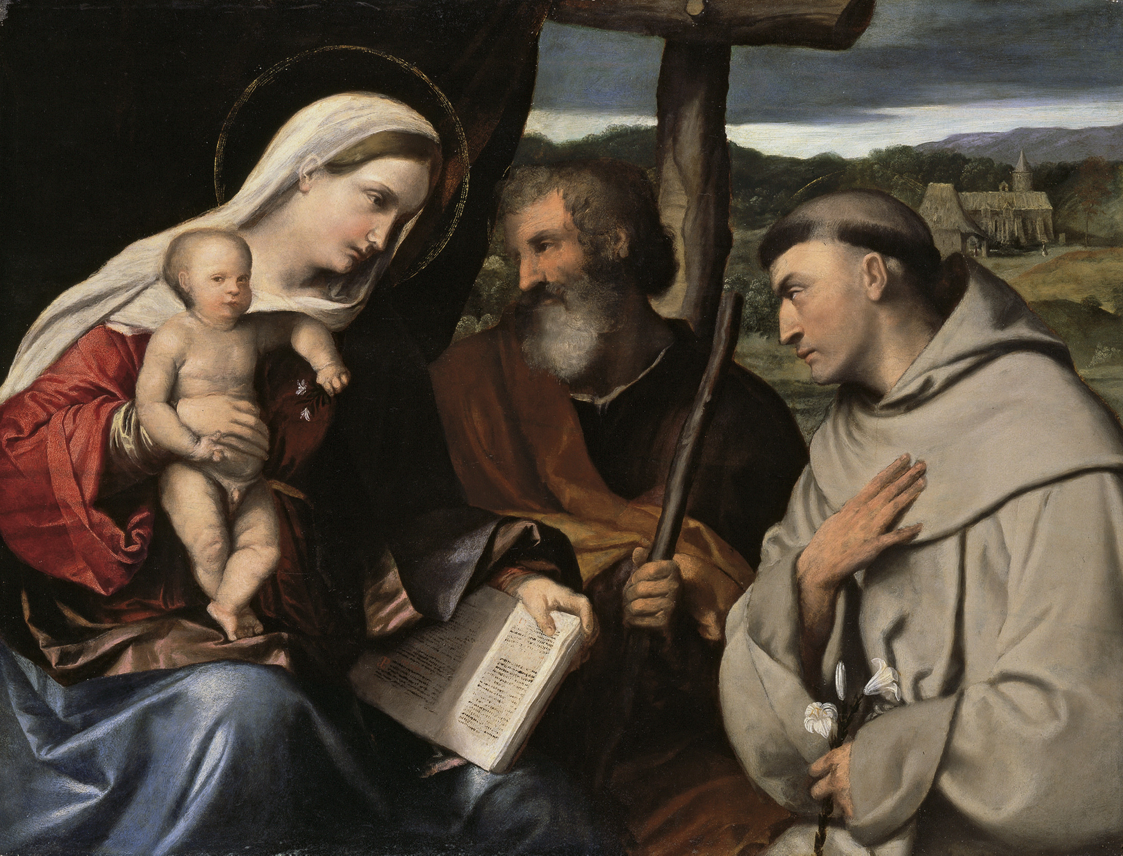 The Holy Family with Saint Anthony of Padua