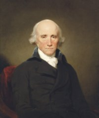Portrait of Warren Hastings (1732-1818), Governor-General of Bengal, half-length, in a dark blue coat and white cravat