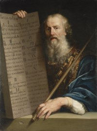 Moses bearing the Tablets of the Law