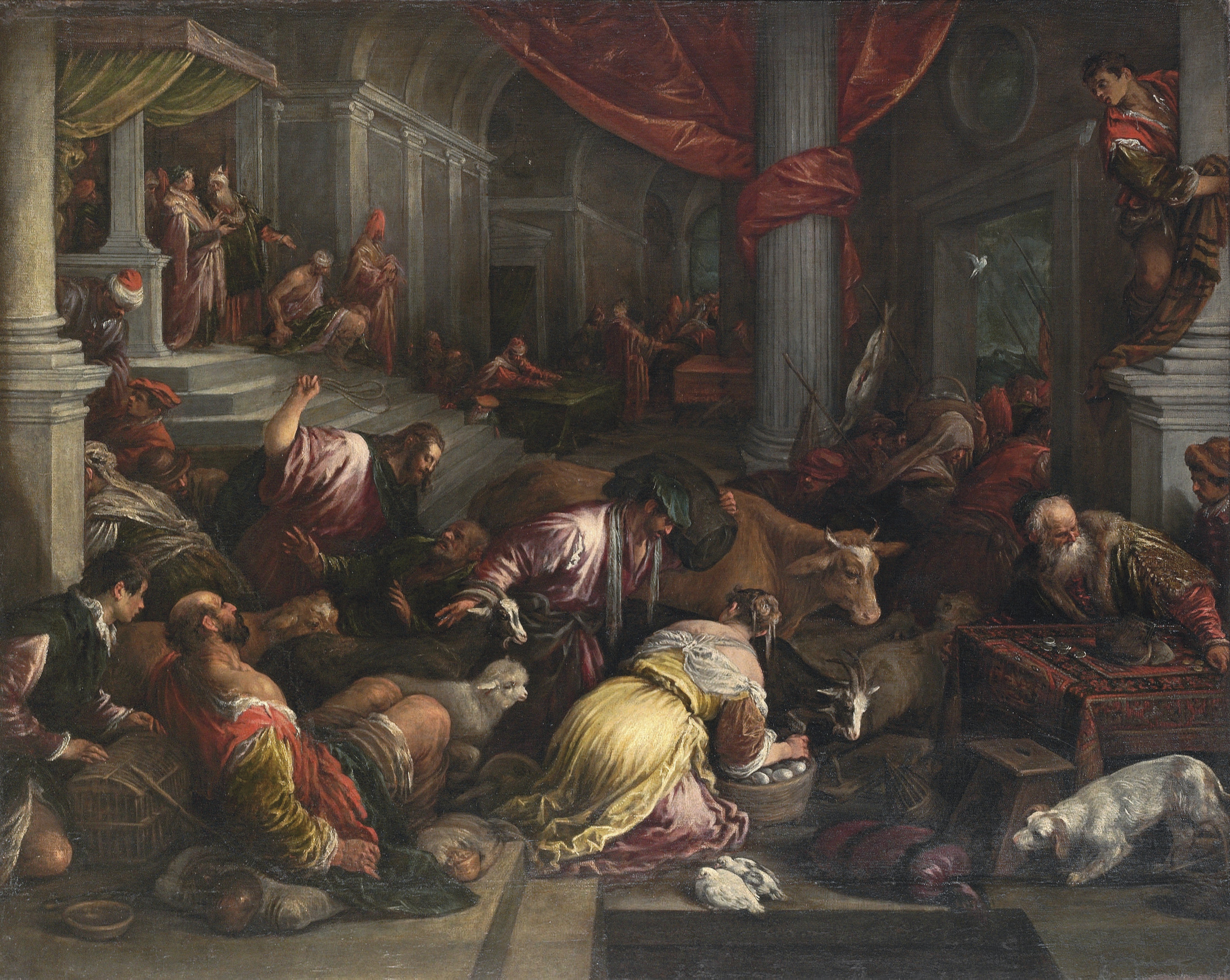 Christ driving the Moneychangers from the Temple