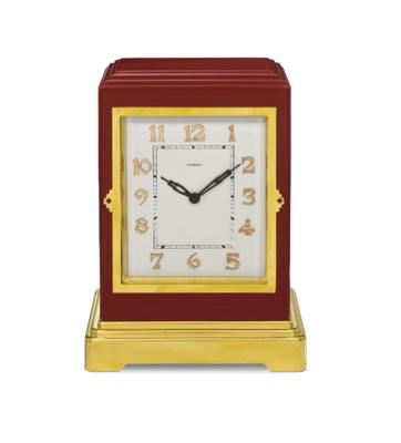 AN ART DECO CLOCK, BY CARTIER