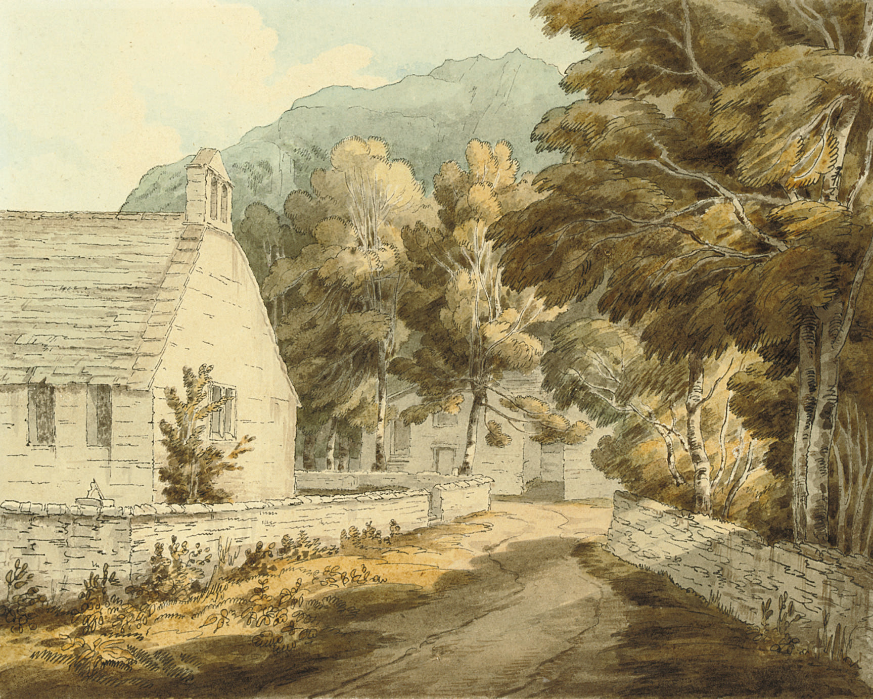 The chapel at Borrowdale, Cumberland