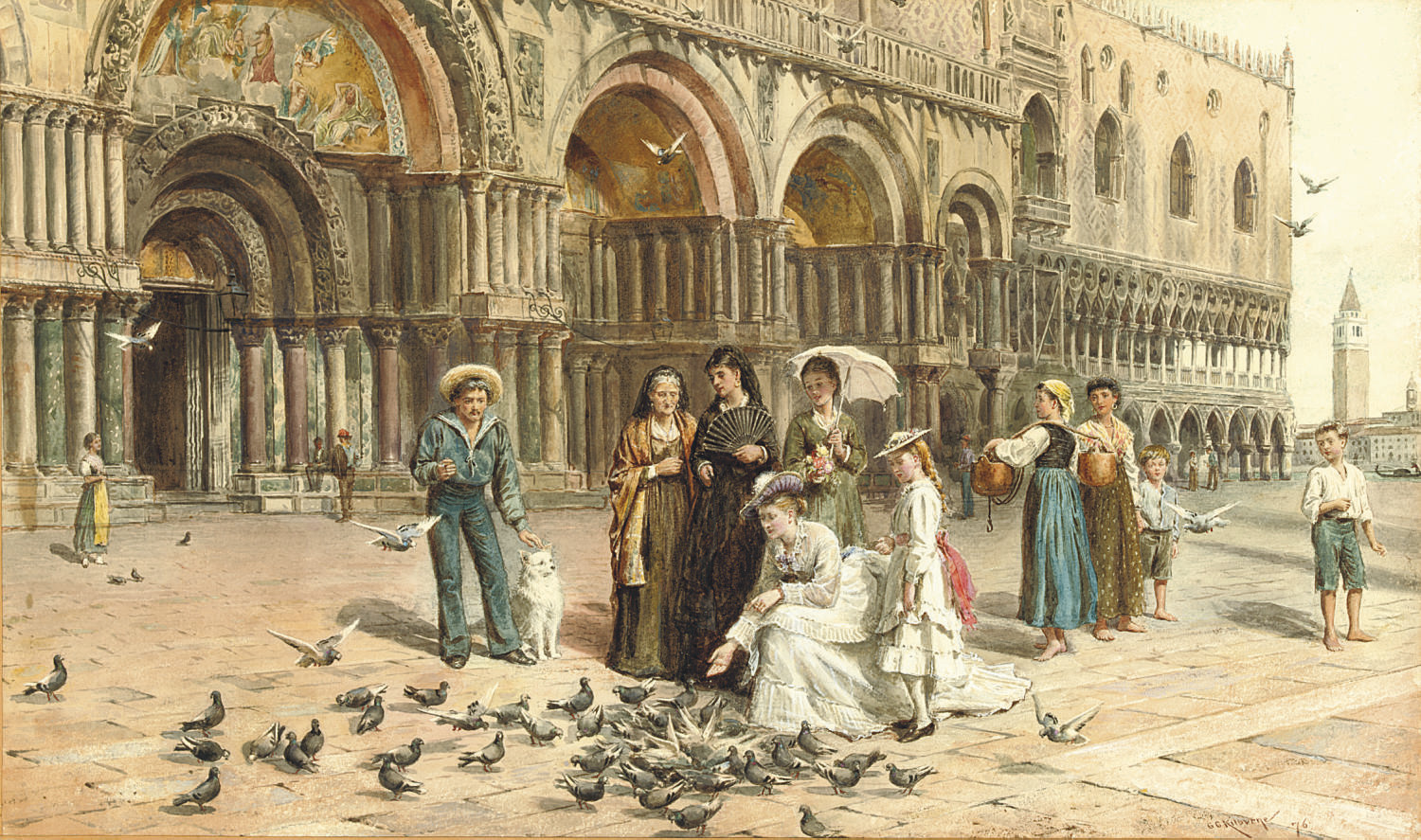 The pigeons of St Mark's, Venice, Italy