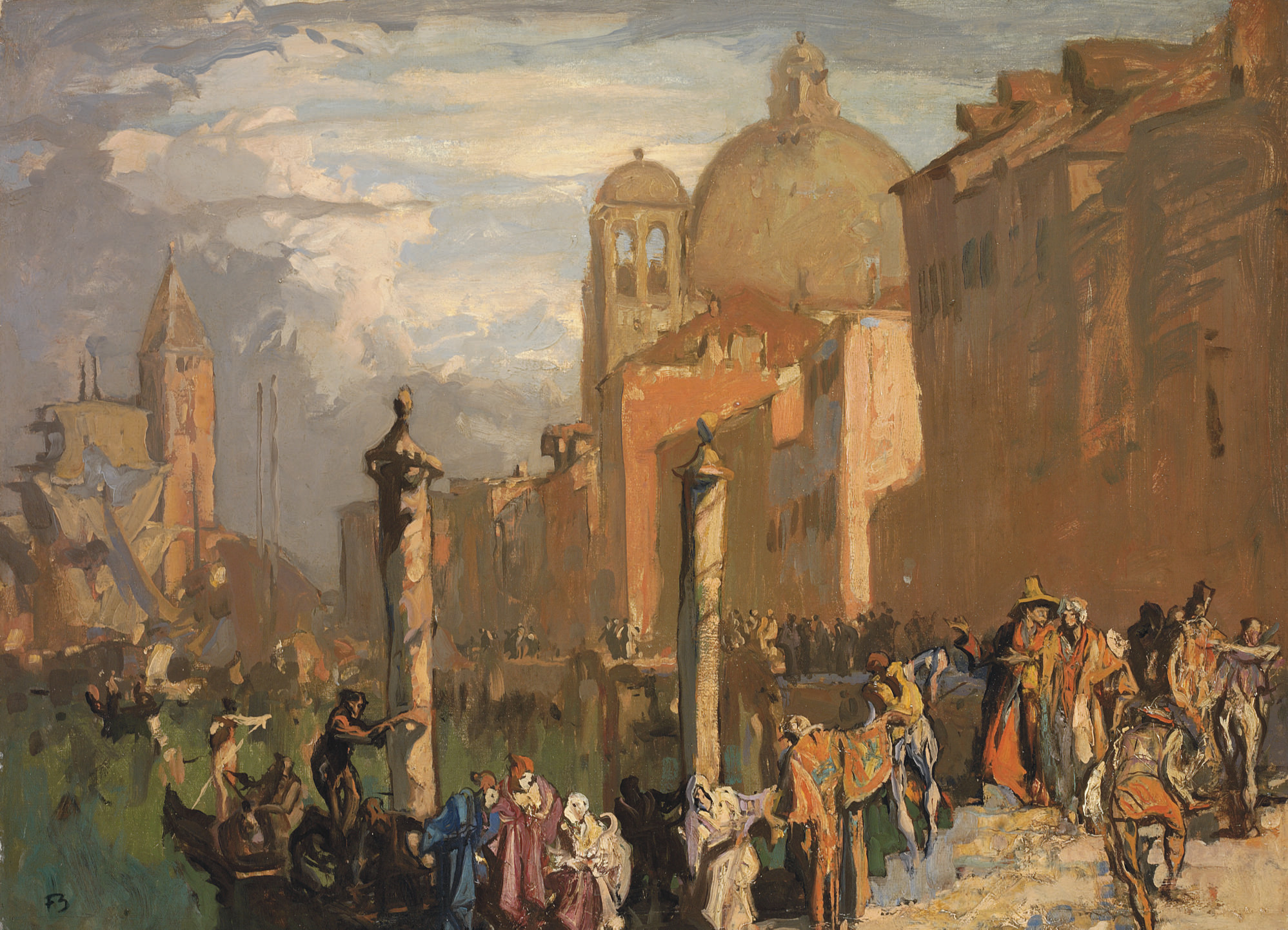 Venice, the Busy Canal