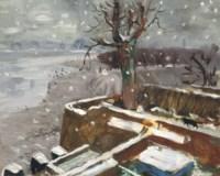 Snow at Durham Wharf