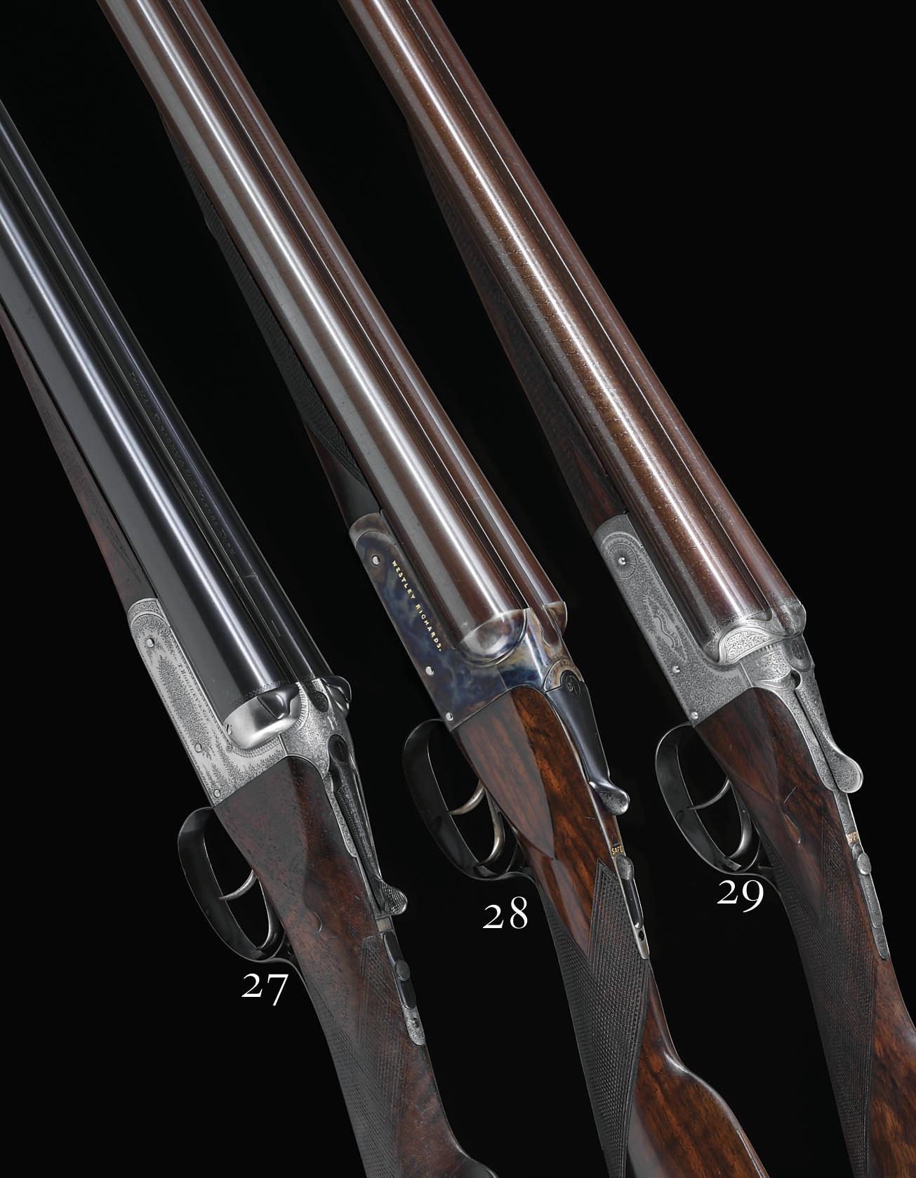 A FINE 16-BORE BOXLOCK EJECTOR GUN BY JOSEPH HARKOM, NO. 2239