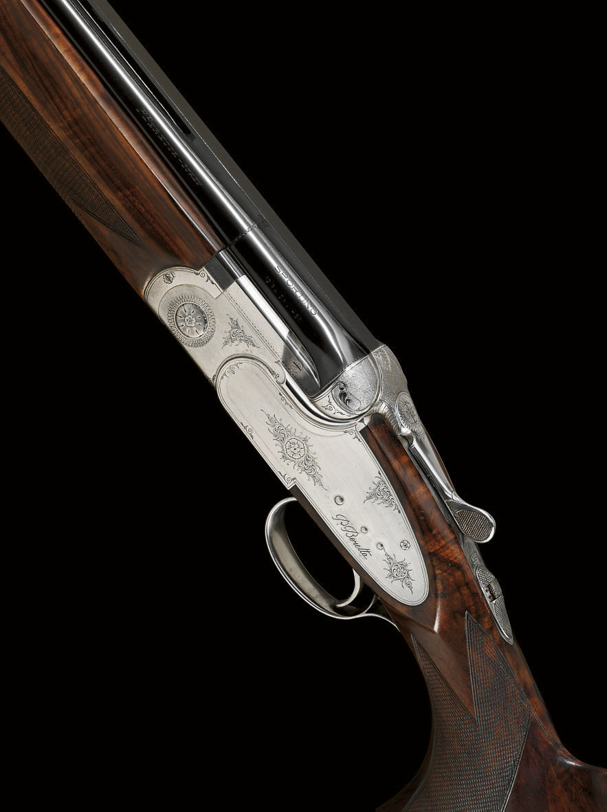 A 12-BORE SINGLE-TRIGGER 'S O5' MODEL OVER-AND-UNDER SIDELOCK EJECTOR GUN BY BERETTA, NO. C13879B