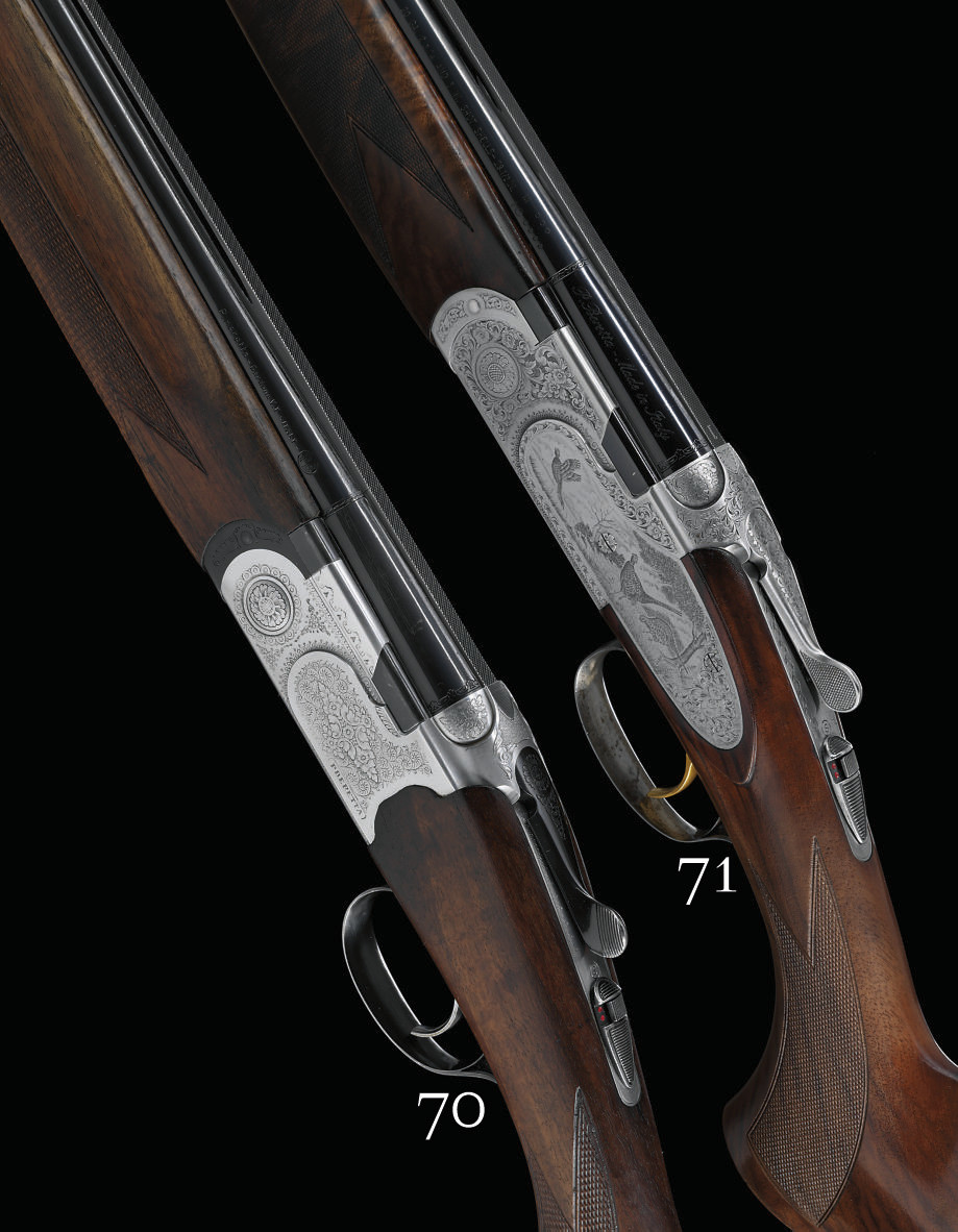A 20-BORE 'S 687 EELL DIAMOND PIGEON' MODEL SINGLE-TRIGGER OVER-AND-UNDER SIDEPLATED BOXLOCK EJECTOR GUN BY BERETTA, NO. 51942B