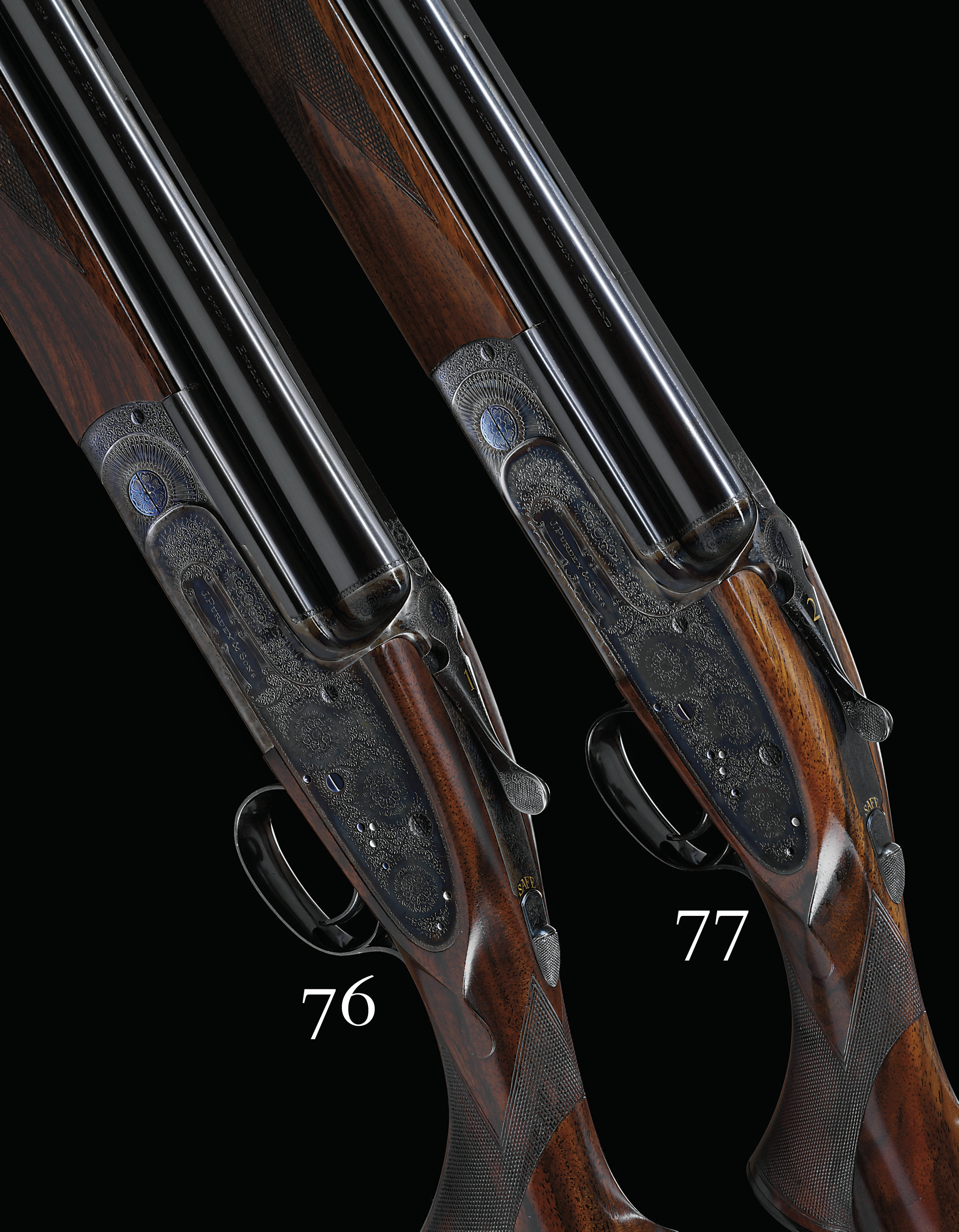 AN EXCEPTIONALLY FINE 12-BORE SINGLE-TRIGGER OVER-AND-UNDER SIDELOCK EJECTOR GUN BY J. PURDEY & SONS, NO. 28438