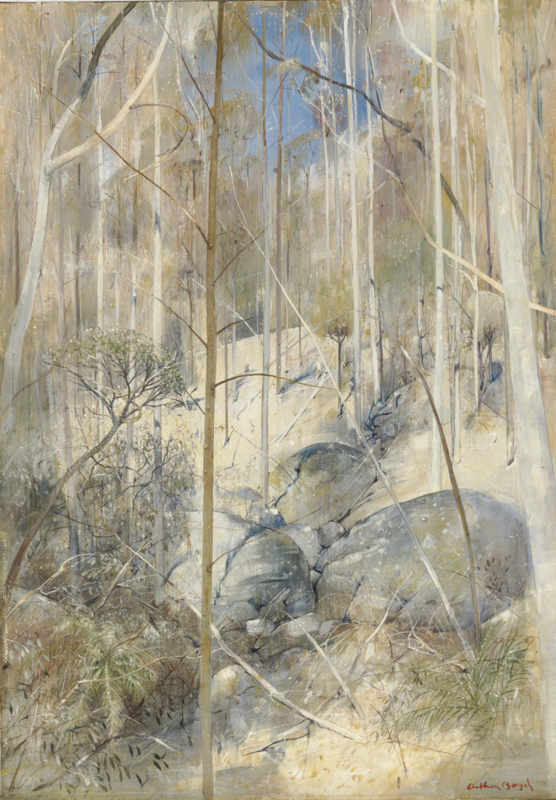 Forest with boulders (1976)