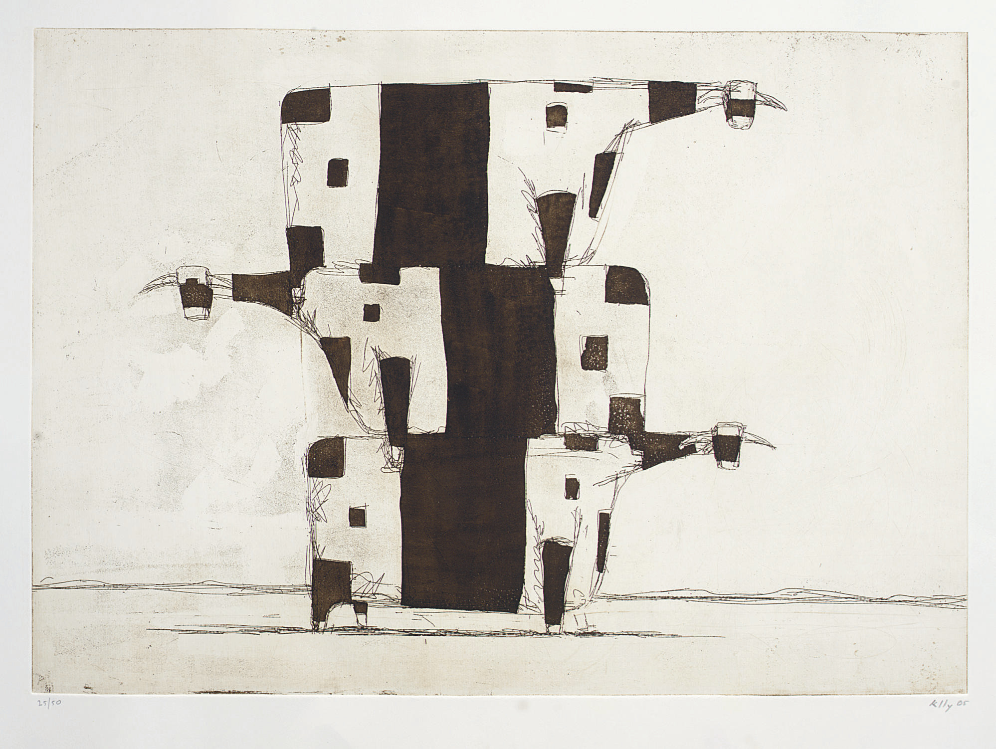 Untitled (Three cows in a pile)