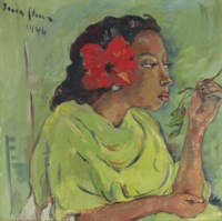 Malay Girl with Hibiscus