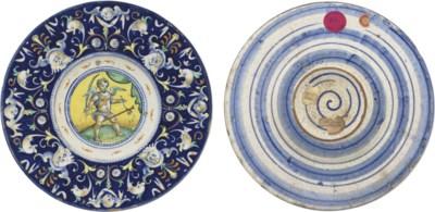 A FAENZA BLUE-GROUND TONDINO