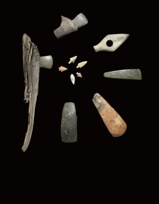 A GROUP OF NEOLITHIC STONE AND