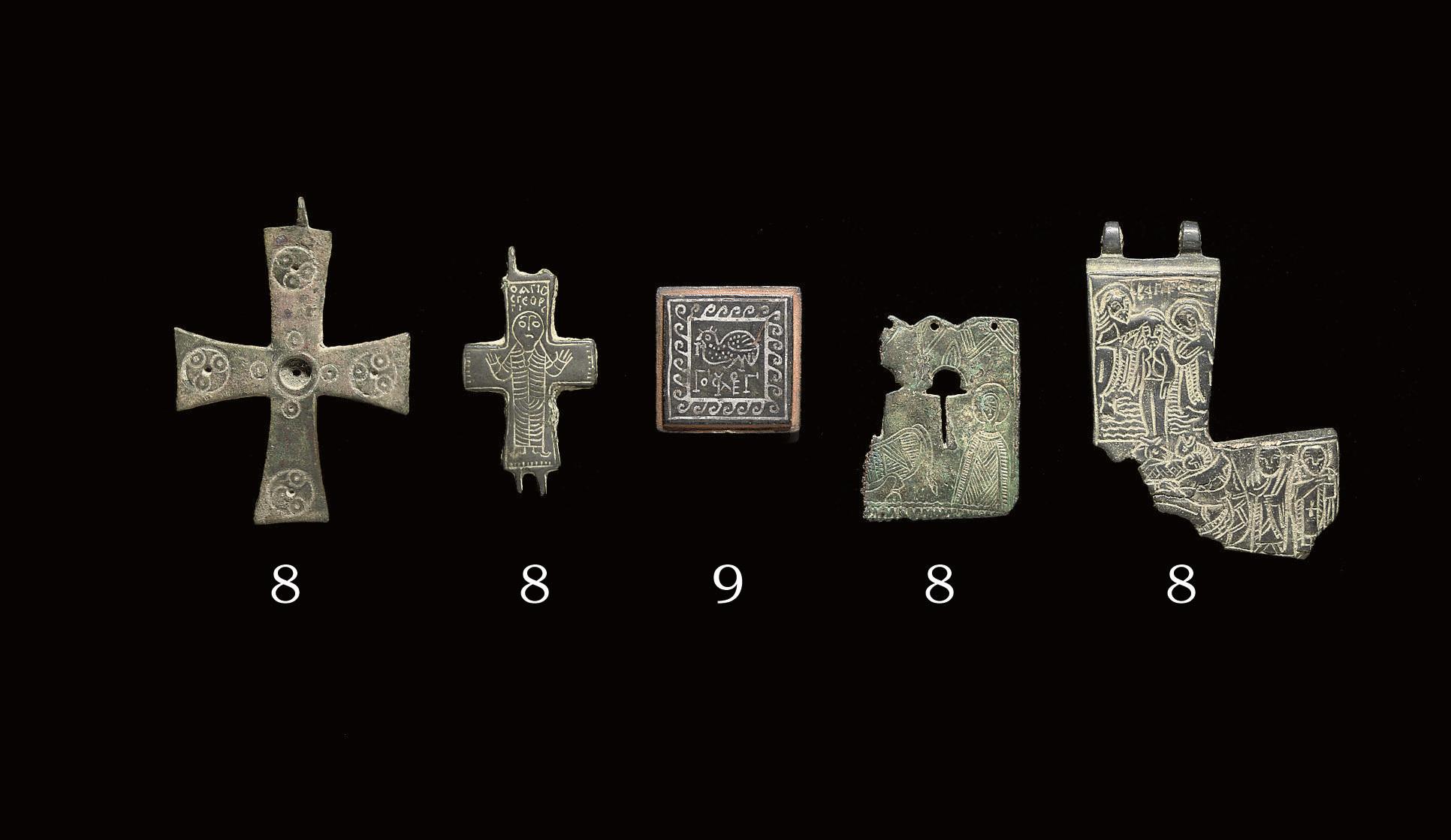 Byzantine Cross Ear-crosses