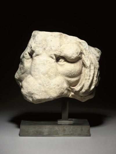 A ROMAN MARBLE SARCOPHAGUS FRA