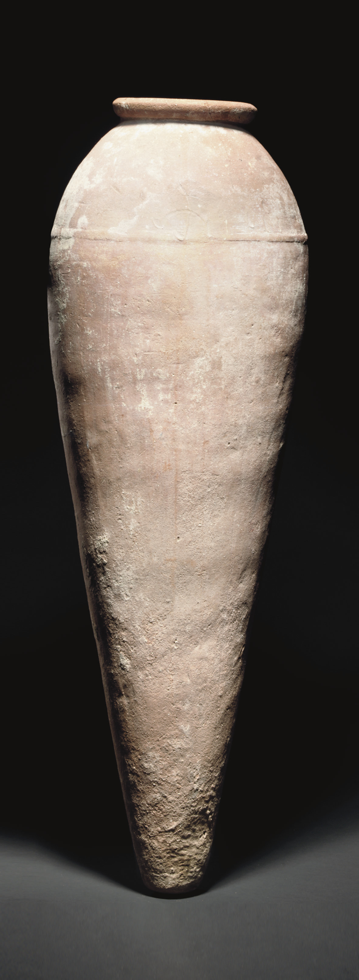 A LARGE EGYPTIAN POTTERY JAR
