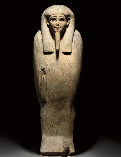 AN EGYPTIAN WOOD MUMMY SARCOPH
