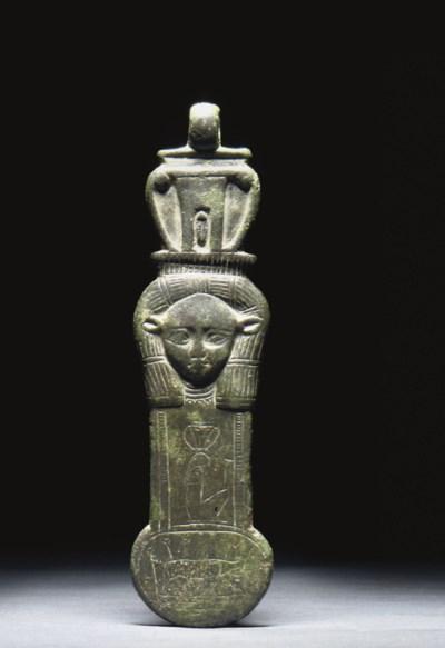 AN EGYPTIAN BRONZE MENAT