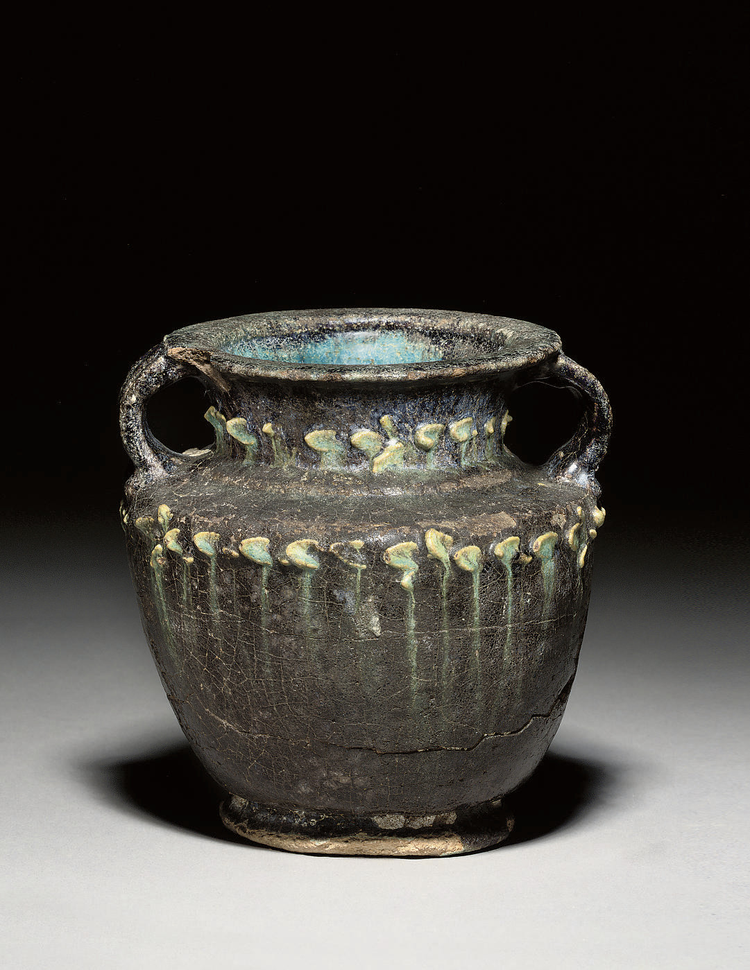 A ROMANO-EGYPTIAN FAIENCE JAR