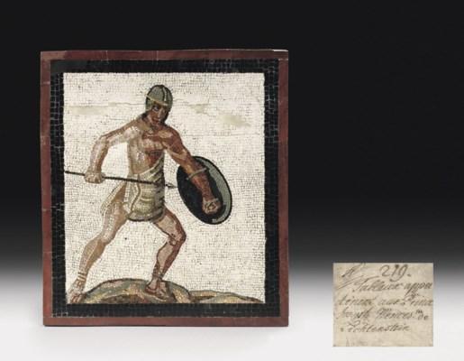 A ROMAN POLYCHROME MOSAIC PANE