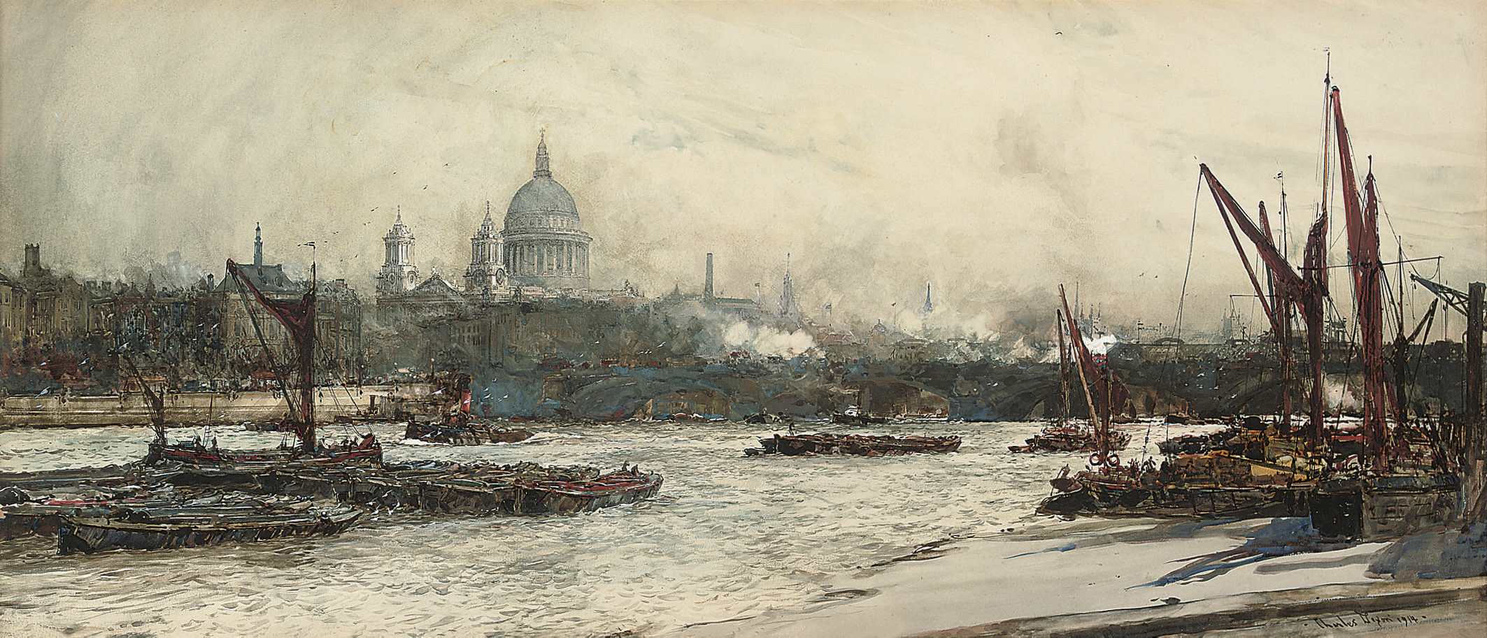 View of St Paul's and Blackfriars Bridge