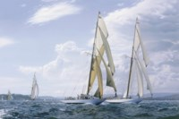 Stiffening Breeze: Tuiga and Mariquita reaching out off St. Tropez, 2007