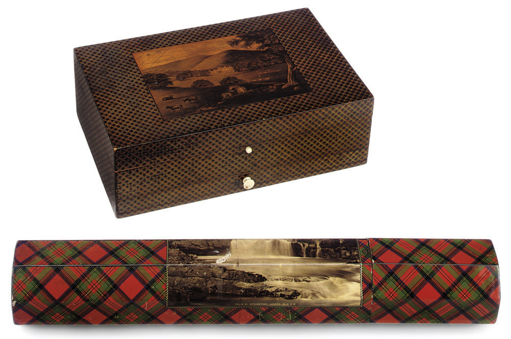 A SCOTTISH MAUCHLINE WARE BOX